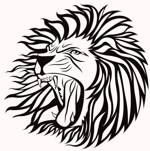 illustration of courage as a lion