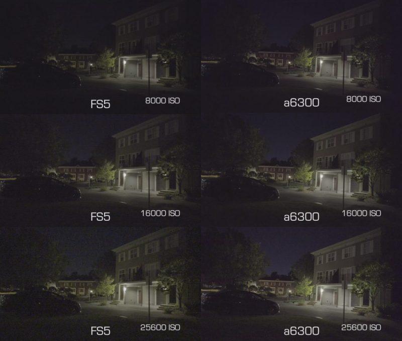 a6300 vs fs5 lowlight
