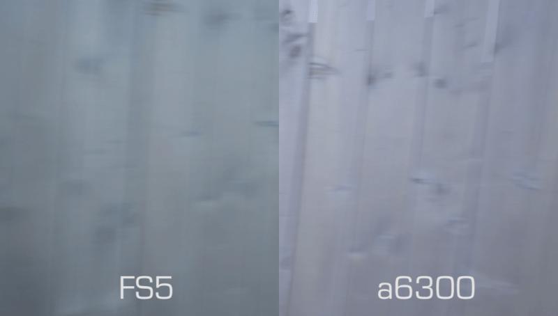 Sony a6300 vs Sony FS5 rolling shutter