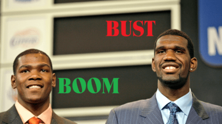 NBA Draft Busts and Booms (Part 1, 2007-2011)