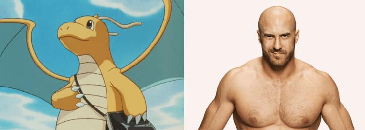Dragonite Cesarov3 1024x364 - Which Pokémon Resemble WWE Superstars?