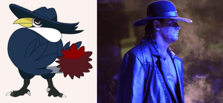 Honchkrow Undertaker 1024x475 - Which Pokémon Resemble WWE Superstars?