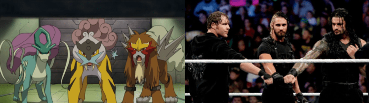 Legendary Dogs The Shield 1024x286 - Which Pokémon Resemble WWE Superstars?