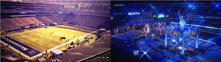 SuperBowl and WrestleMania 1024x289 - Wrestling for Dummies; Why do People Love Wrestling?