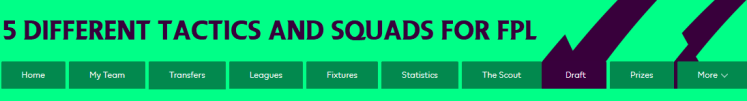5 Squads Cover 1 1024x138 - The 2020/21 Fantasy Premier League Guide