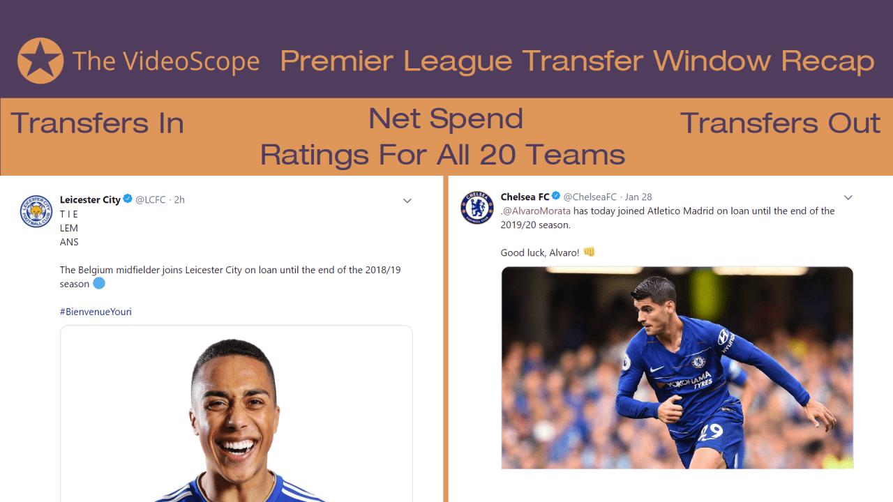 Premier League January 2019 Transfer Window Recap