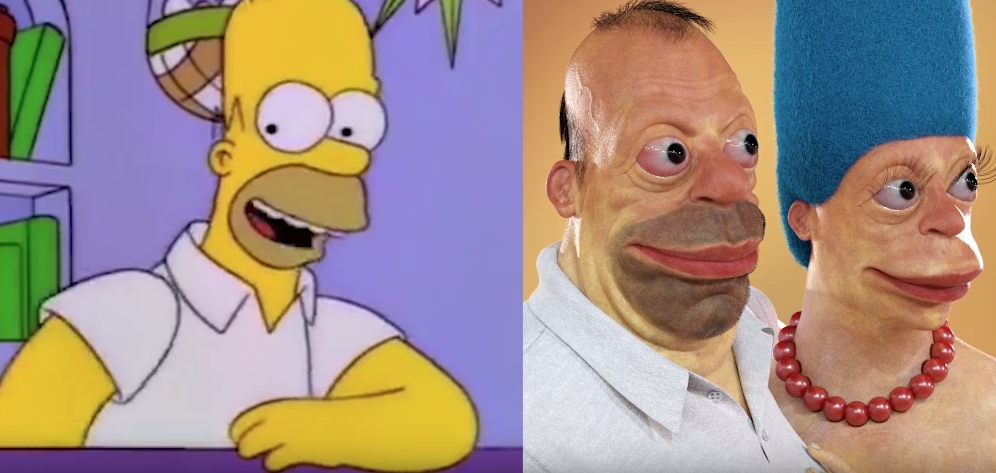 The Man Who Makes Creepy Realistic Versions Of Famous Cartoon