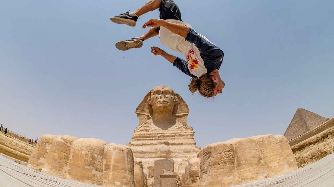 Freerunning Around Egypt's Most Iconic Landmarks image of Dominic Di Tommasso