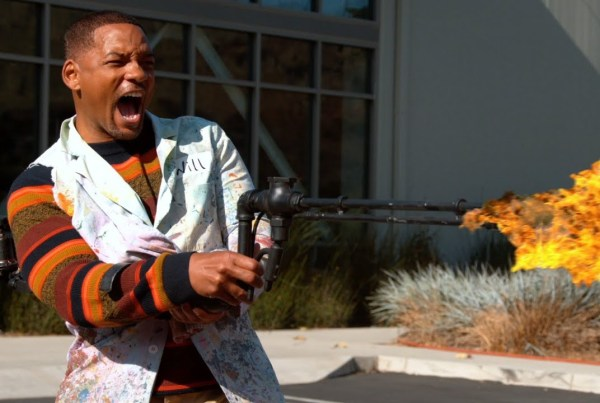The Slo Mo Guys And Will Smith Play With A Flamethrower image of Will Smith