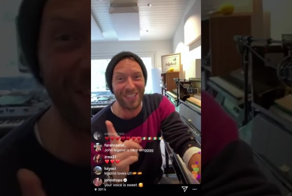 Chris Martin Streamed A Concert From His Living Room For Anyone Stuck At Home image of Chris Martin