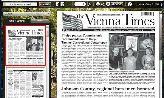 Johnson County newspapers take to the web – The Vienna