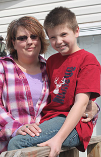Shannon Muckle Owens and her son, Gordy Muckle were the first on the scene of a vehicle fire in a remote area of Johnson County. Gordy discovered the fire while 4-wheeling. Shannon was able to pull the driver to safety.