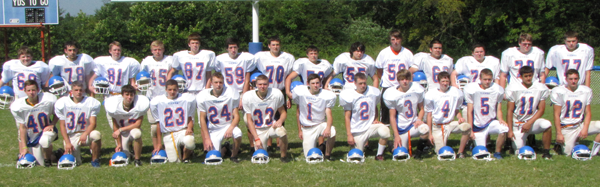 Vienna-Goreville JV football team pictured from left to right, front row: Eli Manier, Paul Browing, Greg Maier, Brandon Stuby, Collin VanAusdoll, Jacob Morrison, Dusty McCuan, Lane Wright, Drew Morrison, Dell Cantrell, Kyle Dunn, Alec Gold and Quin Colson. Back row: Brody Hazel, Parker Agin, John Waters, Anthony Davidson, Kyle Kinder, Kobee Pope, Amos Rutherford, Rocky Henderson, Austin Pennington, Jace Ennis, Alex Carrillo, Dylan Dearman, Beau Schuetzand Keith Dunn.