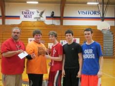 Orange Bracket 3-on-3 Basketball Winners - Jamee Cole, Adam Ketelson, Dalton Smith & Amos Rutherford