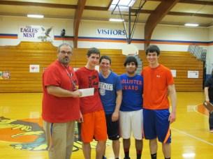 Blue Bracket 3-on-3 Winners - Blake Crain, Nathan Gearing, Wyatt Robinson and Luis Botello