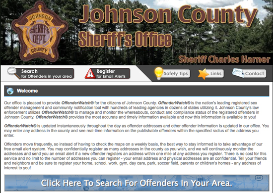 Johnson County's OffenderWatch® site goes live – The Vienna