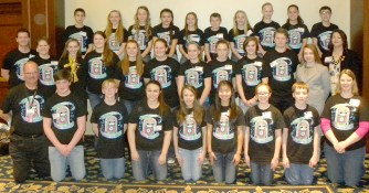 Vienna Grade School's Junior Beta club members earned sixteen awards at the Illinois Junior Beta Convention in Springfield recently.