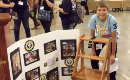 Joshua McGill won the national title in Woodworking.