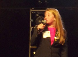 Reagan Johnson ran for re-election as the Illinois State Junior Beta Vice President.