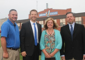 Vienna Highs School athletic director David Hill, superintendent/principal Joshua Stafford, dean of instruction Kathy Anderson and dean of students John Giffin.