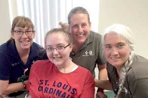 Allie spent several weeks at Herrin Hospital rehabilitation center during her recovery process, before being transferred to a Chicago facility.
