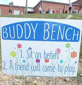 Buddy Bench sign