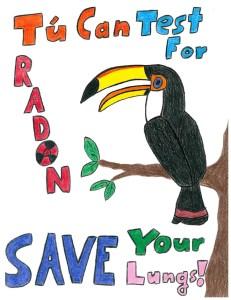 Vienna student Levi Moore's winning poster promoting radon awareness