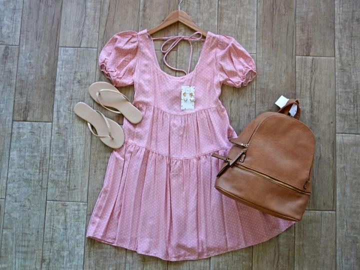 Peasant Dress Flat Lay