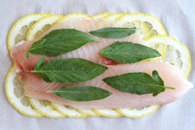 Roberta's Lemon Herb Fish (in parchment paper)