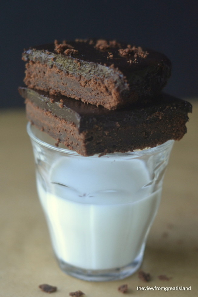 Cold Chocolate Snacking Cake is cool, dark, moist, and decadent — keep a batch in the fridge at all times! | theviewfromgreatisland.com
