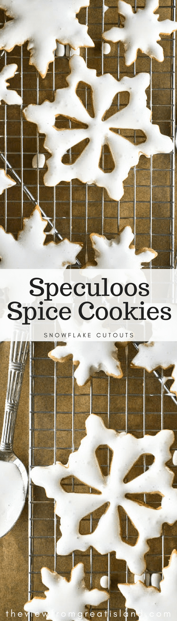 Speculoos Spice Cookies are based on a classic Dutch recipe that makes perfect cut out cookies ~ these pretty snowflakes will be the stars of your holiday cookie assortment! #cookies #holidaycookies #cutoutcookies #royalicing #Christmascookies #speculoos #spicecookies #dessert #Christmas #cookiecutters
