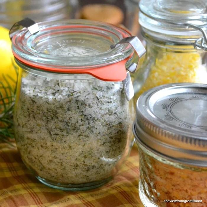 three different finishing salt recipes