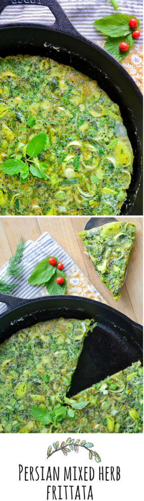 A bright fresh and healthy frittata that can be served warm or at room temperature.
