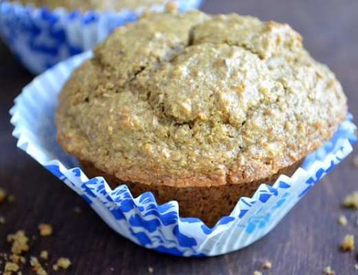 A healthy multi grain raisin walnut bran muffin