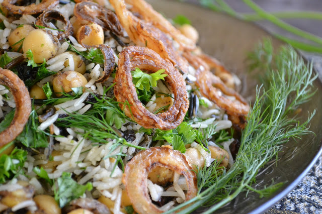 Wild rice with chickpeas