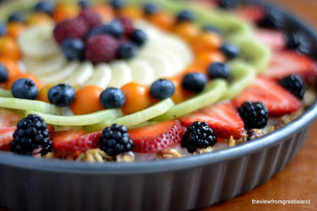 Beautiful Breakfast Tart topped with fresh fruit