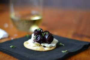 Roasted Black Grapes | theviewfromgreatisland.com