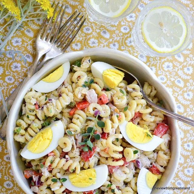 A classic Pasta Salad with Tuna!