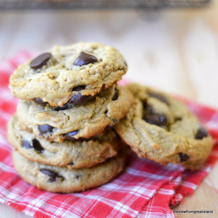 Flourless Peanut Butter Chocolate Chip Cookies, Gluten Free | The View from Great Island