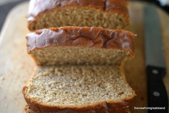 Whole wheat bread for Gingerbread French Toast