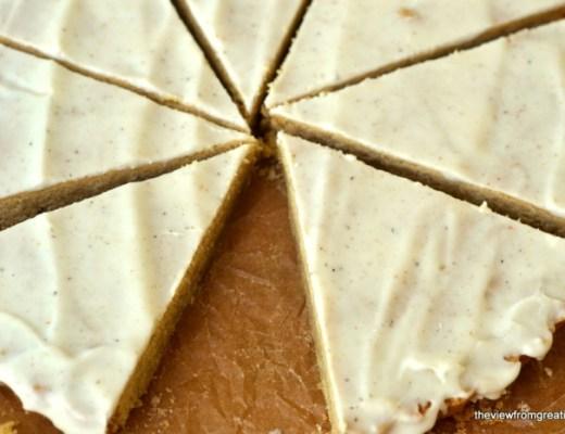 Gingerbread Shortbread Sliced
