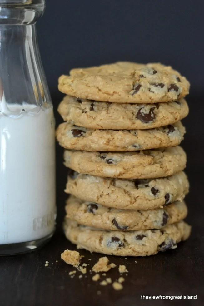 flourless cashew butter chocolate chip cookies 8
