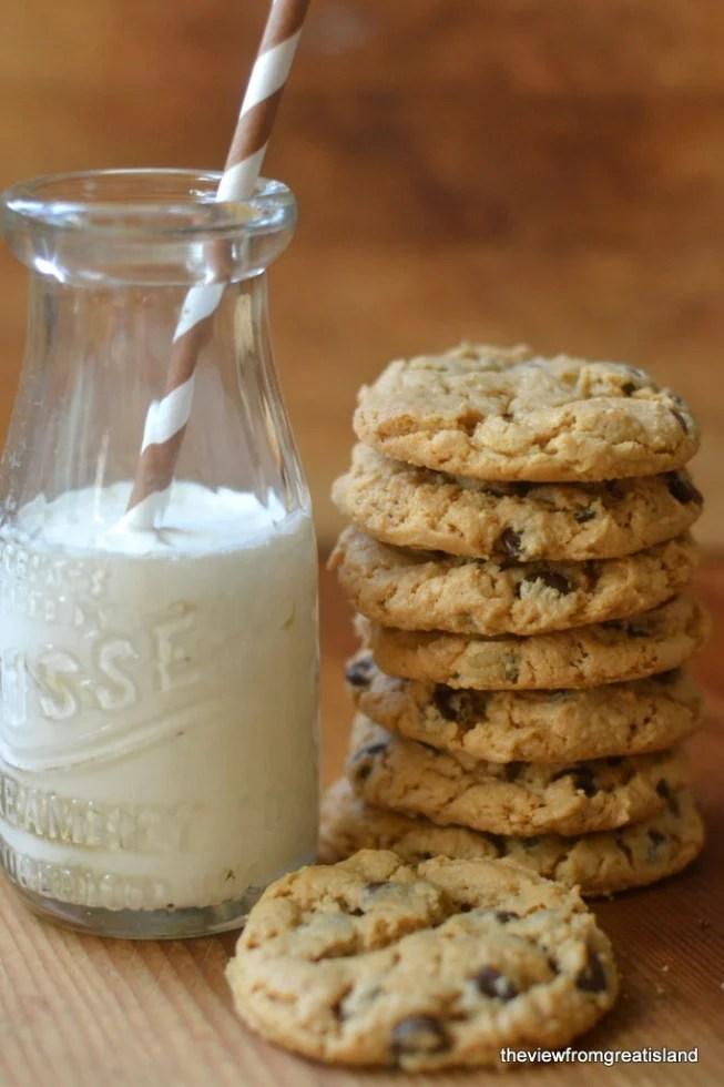 flourless cashew butter chocolate chip cookies 9