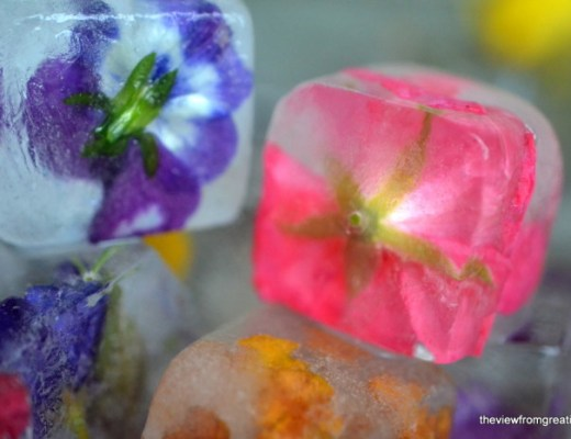 How to make flower ice cubes 17