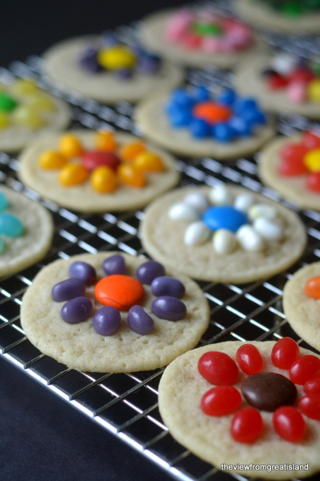 Quick and Easy Spring Flower Cookies 5