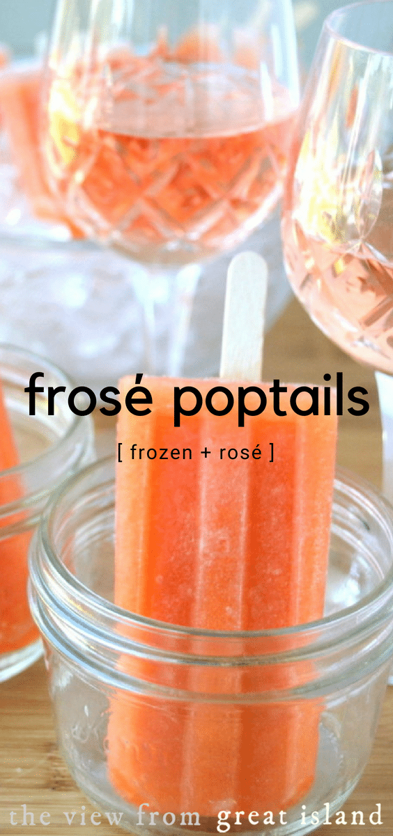 The Papaya Breeze Frosé Poptails are a refreshing and easy frozen cocktail on a stick! #wine #rosé #frozé #summer #frozen #recipe #wine #cocktail #popsicles #papaya #alcoholic