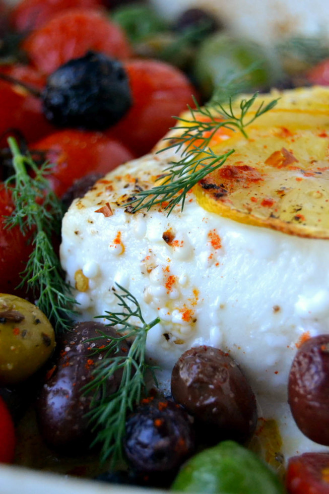 Simple Greek Style Baked Halibut