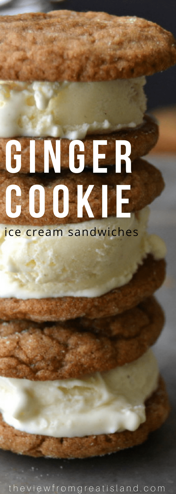 Ginger Cookie and Nutmeg Ice Cream Sandwiches ~ a little bit summer, a little bit fall, and a whole lot delicious! #dessert #ice cream #falldessert #gingercookies #gingersnaps #homemadeicecream #nutmeg #frozendessert