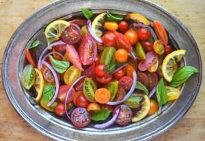 Tomato Onion and Roasted Lemon Salad 8