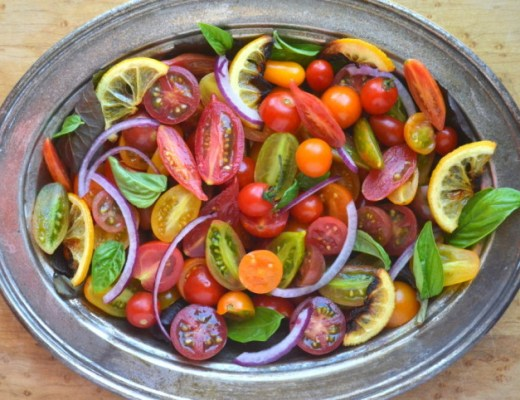 Tomato Onion and Roasted Lemon Salad 8